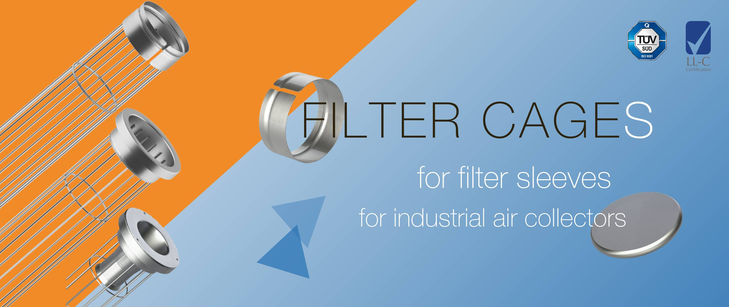 filter cages dust collectors clean air world italy